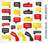 vector stickers  price tag ... | Shutterstock .eps vector #481384051