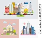 modern flat design conceptual... | Shutterstock .eps vector #481385797