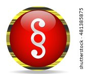 paragraph icon. internet button.... | Shutterstock . vector #481385875