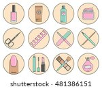 set of vector icons cosmetics... | Shutterstock .eps vector #481386151