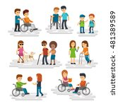 Disability Person Vector Flat....
