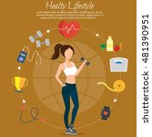 healthy lifestyle vector set... | Shutterstock .eps vector #481390951
