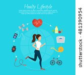 healthy lifestyle vector set...   Shutterstock .eps vector #481390954