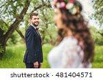 wedding walk on nature. bride... | Shutterstock . vector #481404571
