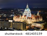 Stock photo aerial view of the city hall of hannover germany 481405159