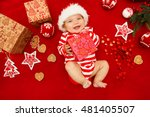 baby first christmas. beautiful ... | Shutterstock . vector #481405507