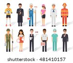 set of diverse occupation... | Shutterstock .eps vector #481410157
