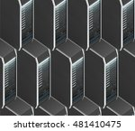 seamless pattern with server... | Shutterstock . vector #481410475