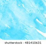 blue watercolor hand drawn...   Shutterstock .eps vector #481410631