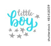 vector cute baby shower... | Shutterstock .eps vector #481418359