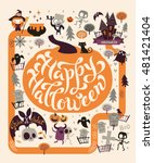 halloween party design template ... | Shutterstock .eps vector #481421404