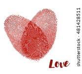 love fingerprint  vector | Shutterstock .eps vector #481428511