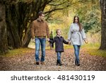 lovely family walking in the... | Shutterstock . vector #481430119