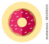 vector icon of donut | Shutterstock .eps vector #481434214