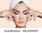 beautiful natural girl woman... | Shutterstock . vector #481434439
