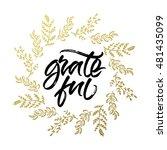 grateful thanksgiving greeting... | Shutterstock .eps vector #481435099