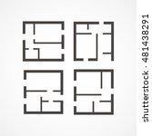 floor plan icons | Shutterstock .eps vector #481438291