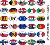 oval sticker flag of the... | Shutterstock .eps vector #481443391