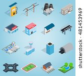 isometric infrastructure icons...