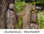 Two Japanese Wood Carvings Of ...
