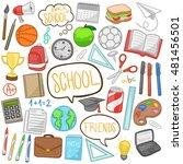 school day doodle icons hand... | Shutterstock .eps vector #481456501