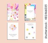 set of artistic vector greeting ... | Shutterstock .eps vector #481466035