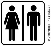 restroom sign. a man and a lady ... | Shutterstock .eps vector #481466134