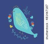 bird hand drawn vector... | Shutterstock .eps vector #481467187