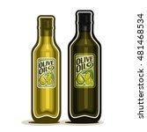 vector logo 2 green glass... | Shutterstock .eps vector #481468534