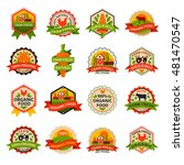 birthday badge banner design... | Shutterstock .eps vector #481470547