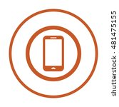 smartphone  icon vector. flat... | Shutterstock .eps vector #481475155