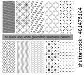 collection of black and white... | Shutterstock .eps vector #481475164