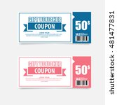 voucher  gift certificate ... | Shutterstock .eps vector #481477831