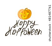 halloween pumpkin on a white... | Shutterstock .eps vector #481487761