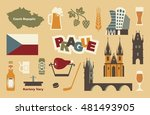 czech republic symbol. vector... | Shutterstock .eps vector #481493905