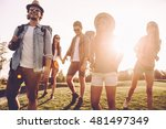 friends hiking. low angle view... | Shutterstock . vector #481497349