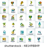 vector abstract business logo... | Shutterstock .eps vector #481498849