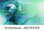 world map abstract concept  3d... | Shutterstock . vector #481499185