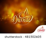 happy diwali background design. ... | Shutterstock .eps vector #481502605
