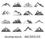 mountain shapes for logos