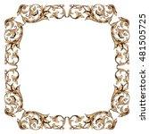 vintage baroque frame ornament. ... | Shutterstock .eps vector #481505725
