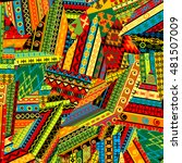 colorful patchwork pattern with ... | Shutterstock .eps vector #481507009