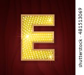 gold light lamp bulb letter e.... | Shutterstock .eps vector #481513069