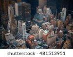 midtown skyscraper buildings... | Shutterstock . vector #481513951