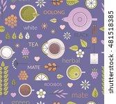 vector pastel seamless pattern... | Shutterstock .eps vector #481518385