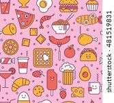 fun vector seamless pattern... | Shutterstock .eps vector #481519831