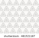illusion triangle pattern ... | Shutterstock .eps vector #481521187