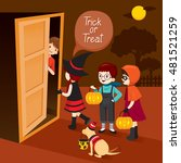 trick or treat  children and... | Shutterstock .eps vector #481521259