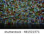 giant multimedia video and... | Shutterstock . vector #481521571