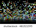giant multimedia video and... | Shutterstock . vector #481521595